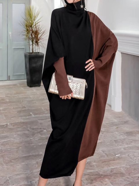 Asymmetric Batwing Elegant Maxi Dress