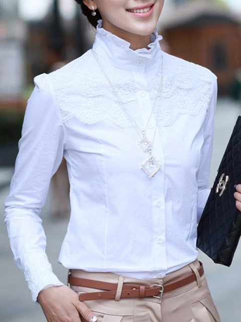 Women Lace Paneled Elegant Blouses