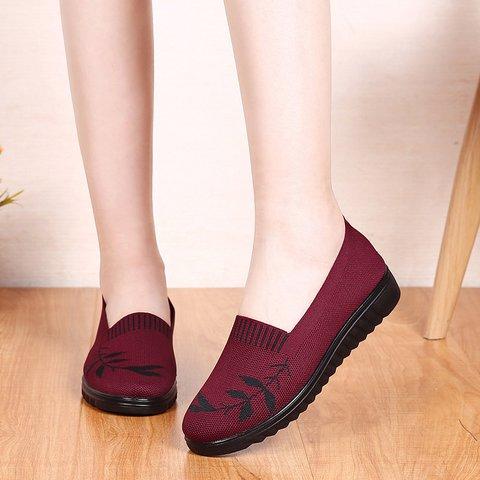 Women's Mesh Flat Heel Casual Sneakers