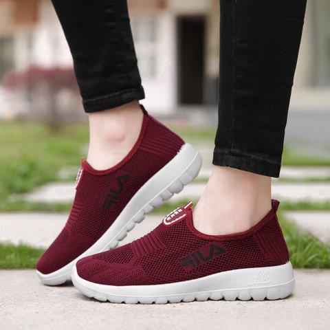 Women's Flat Heel Mesh Casual Sneakers