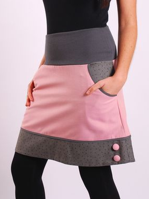 Cotton-blend Casual Skirts