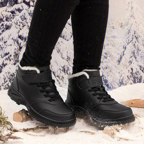 Womens Warm Boots Winter Lace-Up Snow Boots Warm Sport Shoes