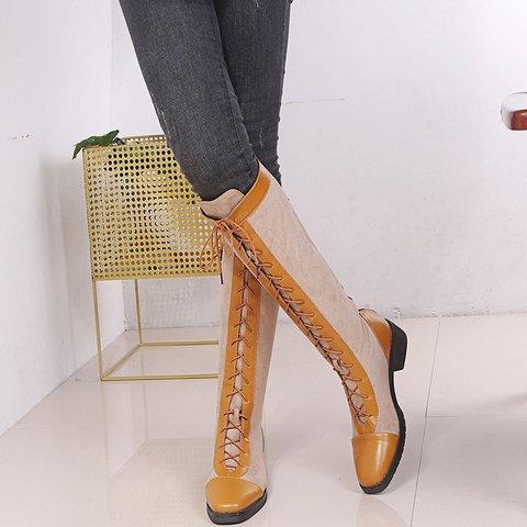 Women's Chunky Heel Winter Long Boots