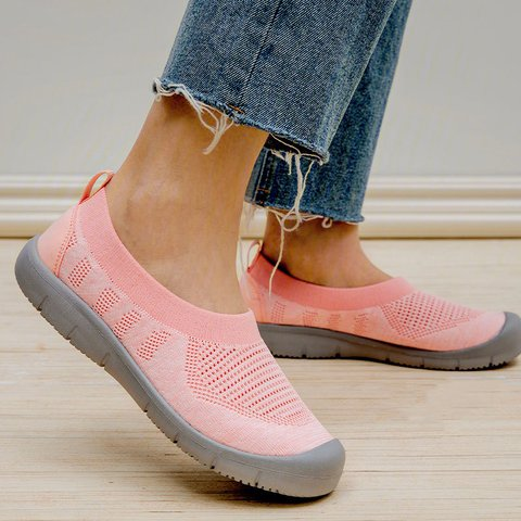Flat Heel Mesh Comfortable Loafers Womens Plus Size Shoes