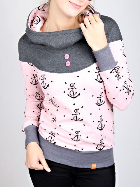 Printed Long Sleeve Casual Sweatshirt
