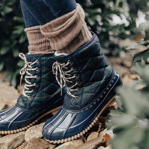 Women Casual Daily Comfy Low Heel Duck Boots