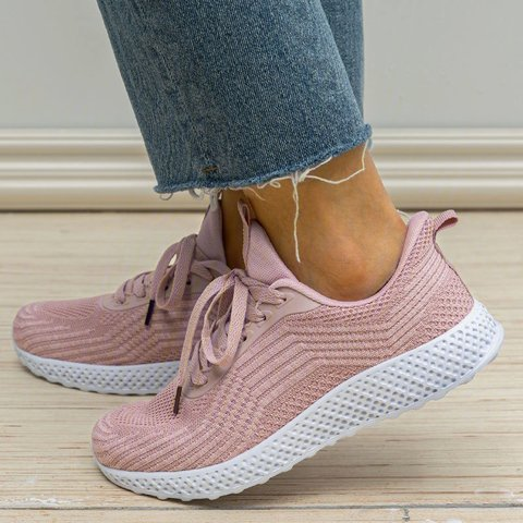 Womens Slip-On Mesh Fashion Sneakers Casual Shoes