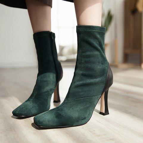 Women's Daily Winter High Heel Ankle Booties