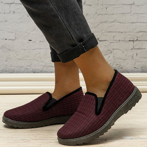 Padded Womens Winter Shoes Slip On Warm Snow Winter Shoes