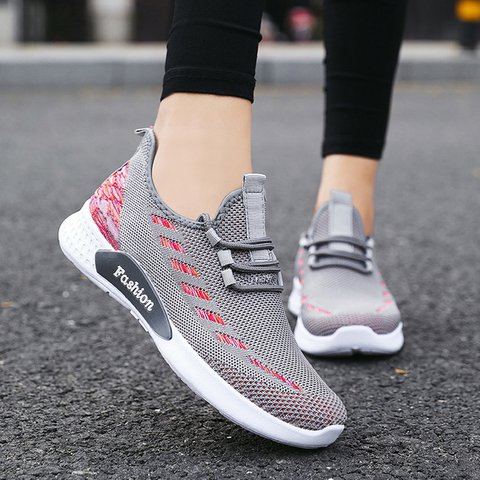 Women's Lace-Up All Season Mesh Fabric Sneakers