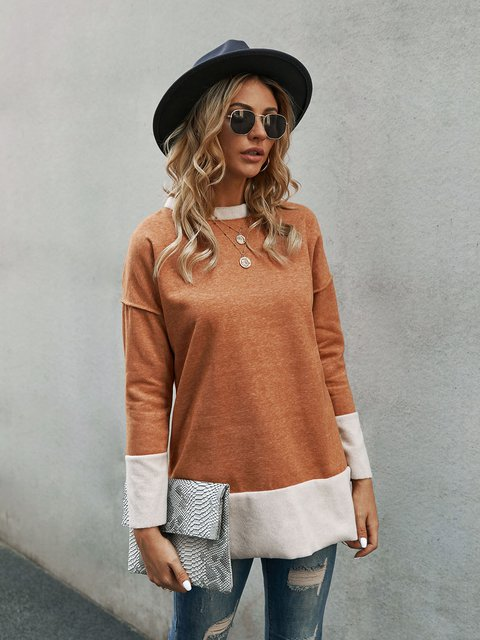 Yellow Casual Crew Neck Shirts & Tops