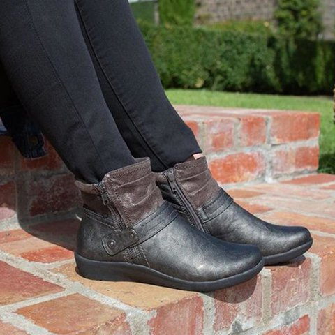 Plus Size Casual Comfy Flat  Boots