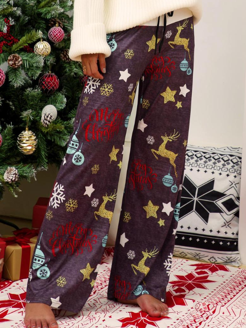 Christmas Holiday Casual Pants