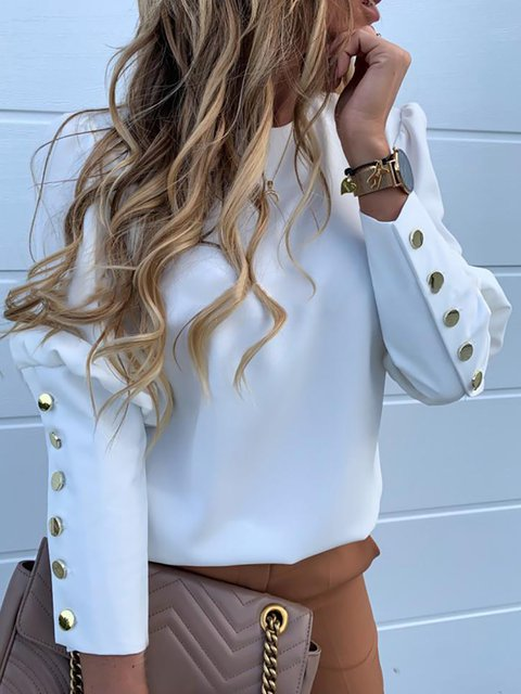 Button Down Long Sleeve Blouses
