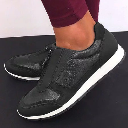 Women Comfy Zipper Sneaker Shoes
