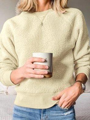 Apricot Cotton-Blend Long Sleeve Outerwear