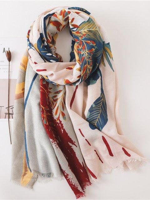 Black Silk-Organza Vintage Scarves & Shawls