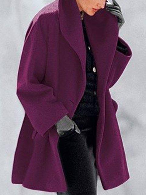 Pockets Shawl Collar Casual Coat