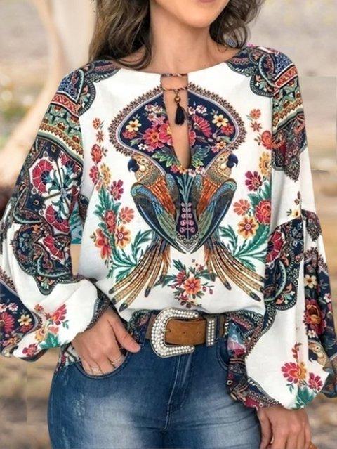 Casual Printed Long Sleeve Shirts & Tops