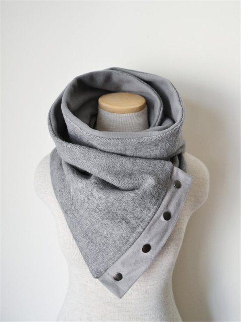 Gray Casual Scarves & Shawls