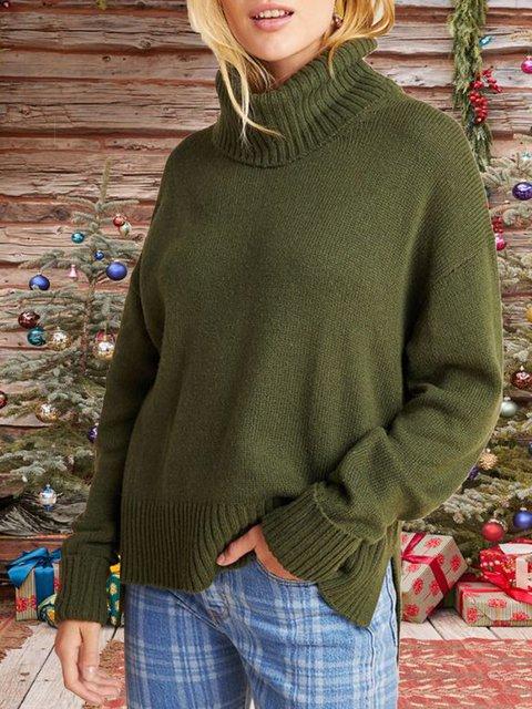 Long Sleeve Turtleneck Shift Sweater