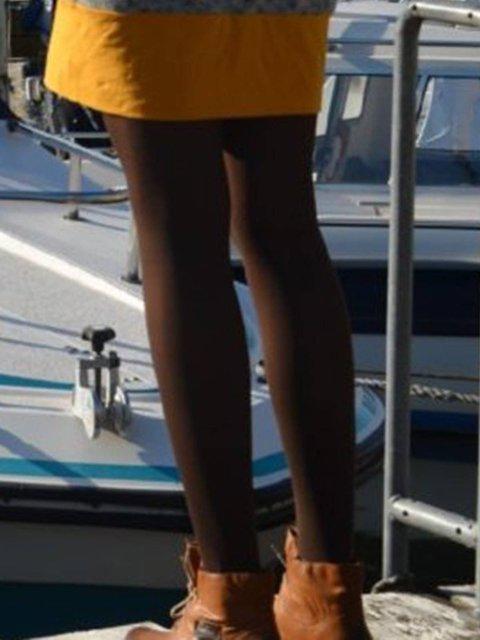 Women stretch Plain Thick Leggings & Socks
