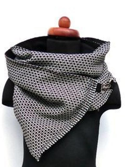 Gray Cotton-Blend Casual Scarves & Shawls