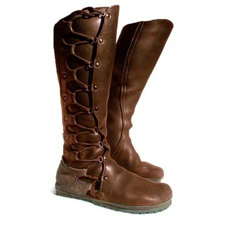 Flat Heel Winter Leather Boots