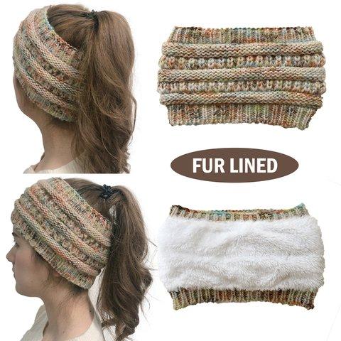 Women Winter Fur Lined Casual Hats