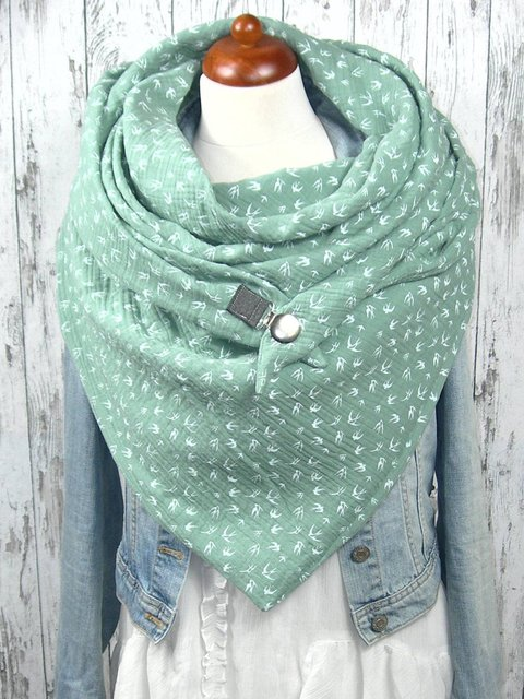 Lightgreen Tribal Casual Scarf