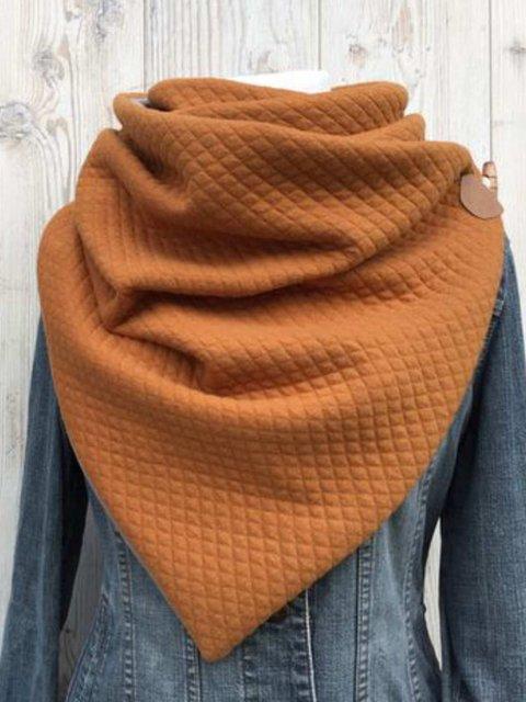 Yellow Casual Plain Cotton-Blend Scarves & Shawls