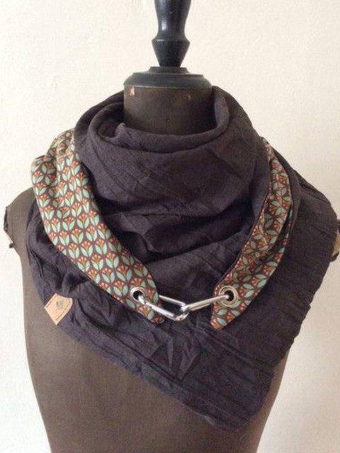 As Picture Floral Cotton-Blend Scarves & Shawls