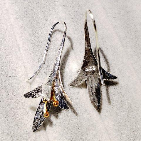 Lily Flower-shaped s925 Tremella Hook Earrings