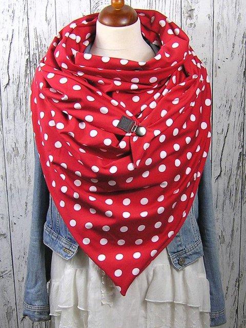 Casual Cotton Polka Dots Scarves & Shawls