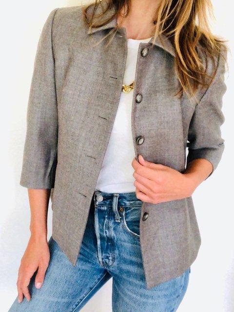 Casual Wool Long Sleeve Blazers Jacket