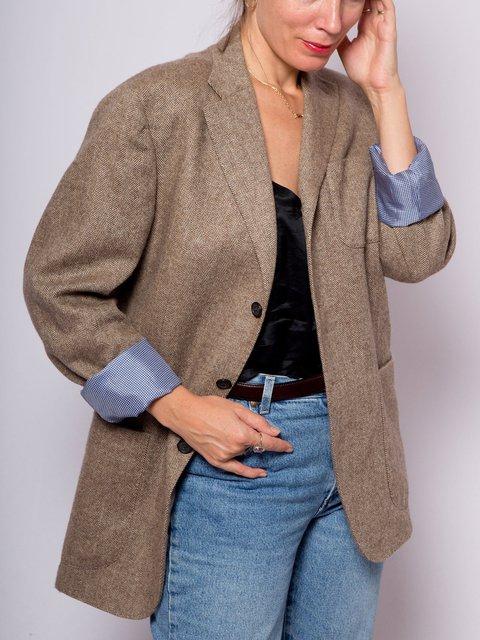 Vintage Wool Tweed Blazer Jacket