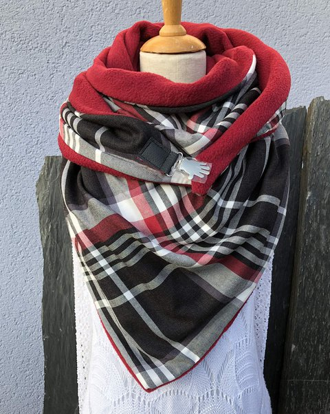 Red Casual Scarves & Shawls