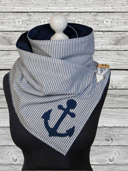Gray Stripes Casual Scarves & Shawls