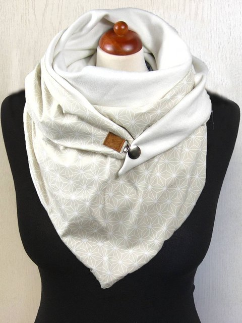 White Casual Paisley Scarves