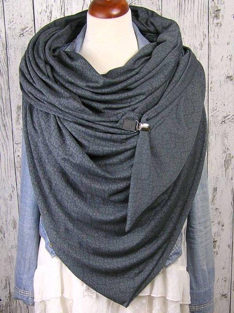 Gray Cotton-Blend Scarves & Shawls