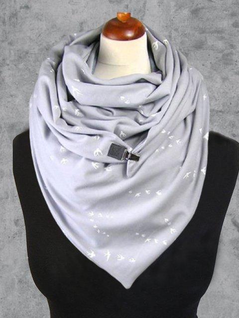 Floral-Print Cotton-Blend Casual Scarves & Shawls