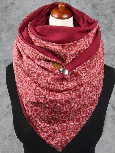 Cotton-Blend Floral-Print Casual Scarves & Shawls