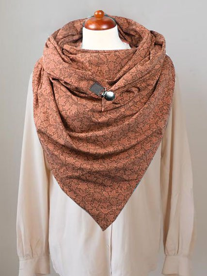 Shrimp Red Casual Scarves & Shawls