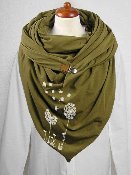 Dandelion print casual scarf