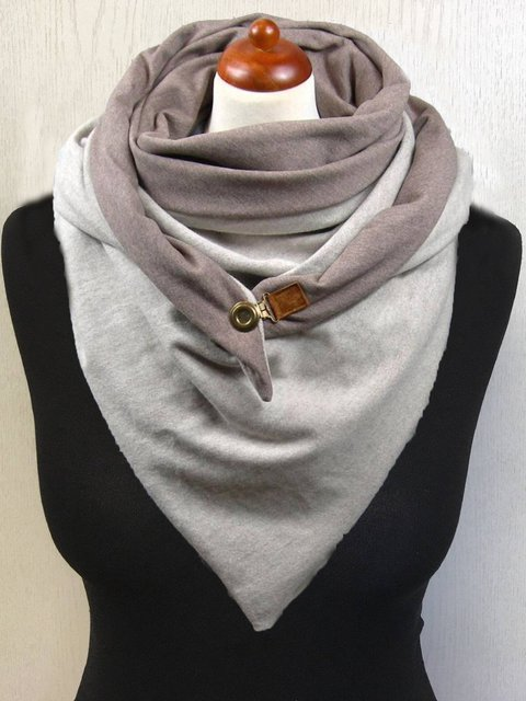 Light Grey Casual Cotton Solid Scarves