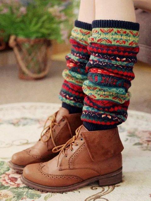 Stacking Socks Wool Blend Socks