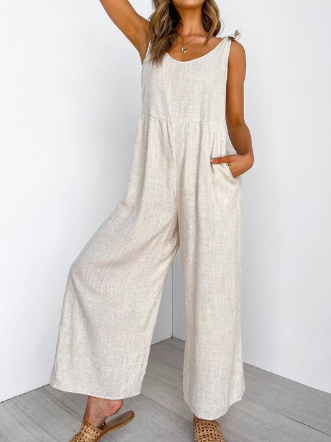 Casual Plus Size Sleeveless Jumpsuit Pantsuit Overalls