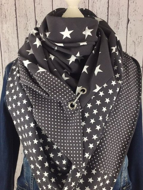 Casual Cotton Polka Dots Scarves