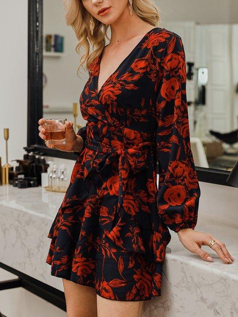 Black Long Sleeve Sweet Dresses