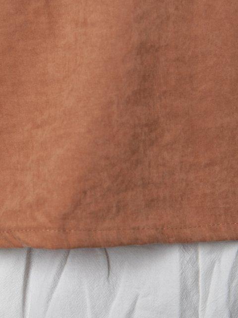 Printed Letter Short Sleeve Casual V Neck Cotton-Blend Blouses